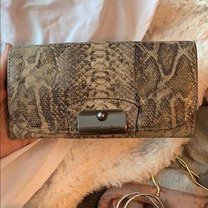 Coach snakeskin wallet